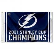 Tampa Bay Lightning Stanley Cup NHL 2021 Champions Flag