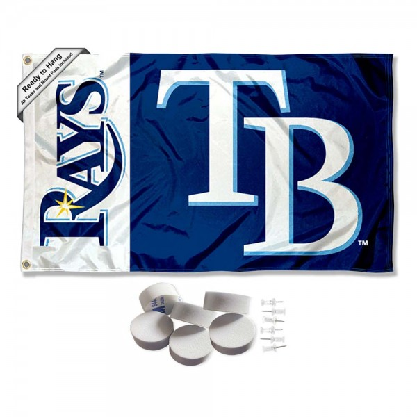 Our Tampa Bay Rays Banner Flag with Tack Wall Pads is double sided, made of poly, 3'x5', has two metal grommets, indoor or outdoor, and four-stitched fly ends. These Tampa Bay Rays Banner Flag with Tack Wall Padss are Officially Approved by the Boston Bruins. Tapestry Wall Hanging Tack Pads which include a 6 pack of banner display pads with 6 tacks allowing you to hang your pennant on any wall damage-free.