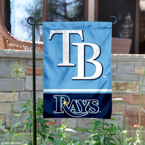 Tampa Bay Rays Garden Flag is 12.5x18 inches in size, is made of 2-ply polyester, and has two sided screen printed logos and lettering. Available with Express Next Day Shipping, our Tampa Bay Rays Garden Flag is MLB Genuine Merchandise and is double sided.