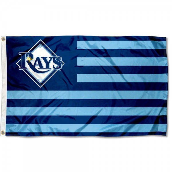 Tampa Bay Rays MLB Nation Flag measures 3x5 feet, is made of polyester, offers quad-stitched flyends, has two metal grommets, and is viewable from both sides with a reverse image on the opposite side. Our Tampa Bay Rays MLB Nation Flag is Genuine MLB Merchandise.