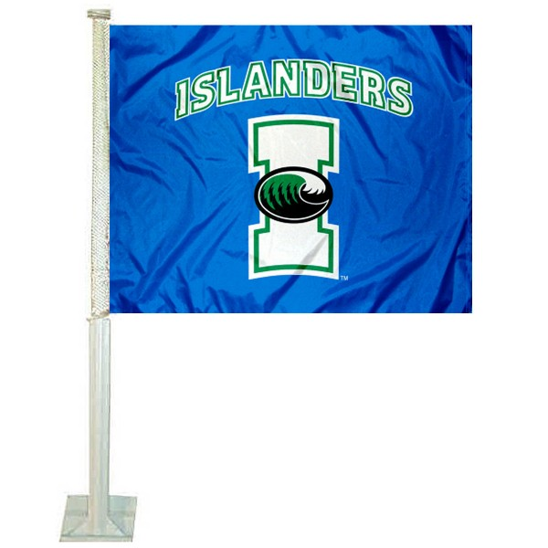 TAMU CC Islanders Car Window Flag measures 12x15 inches, is constructed of sturdy 2 ply polyester, and has screen printed school logos which are readable and viewable correctly on both sides. TAMU CC Islanders Car Window Flag is officially licensed by the NCAA and selected university.