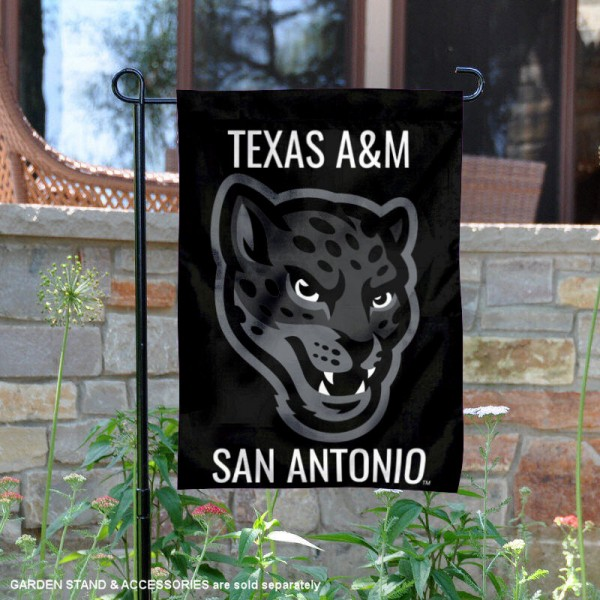 TAMUSA Jaguars Garden Flag is 13x18 inches in size, is made of 2-layer polyester, screen printed university athletic logos and lettering, and is readable and viewable correctly on both sides. Available same day shipping, our TAMUSA Jaguars Garden Flag is officially licensed and approved by the university and the NCAA.