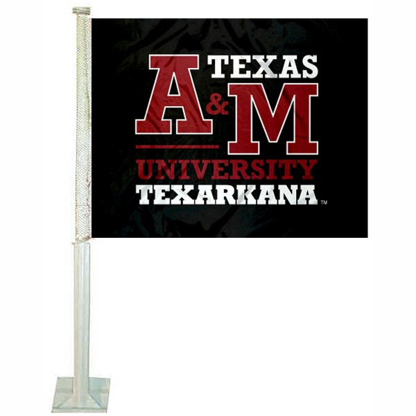 TAMUT Eagles Car Window Flag measures 12x15 inches, is constructed of sturdy 2 ply polyester, and has screen printed school logos which are readable and viewable correctly on both sides. TAMUT Eagles Car Window Flag is officially licensed by the NCAA and selected university.