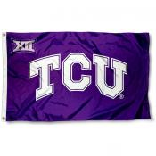 TCU Horned Frogs Big 12 Logo Flag