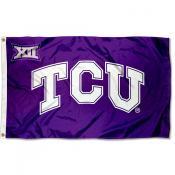 TCU Horned Frogs Big 12 Logo Flag