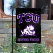 TCU Horned Frogs Black Garden Yard Flag