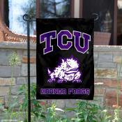TCU Horned Frogs Black Garden Yard Flag