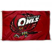 Temple Owls 3x5 Foot Flag