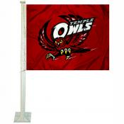 Temple Owls Car Flag
