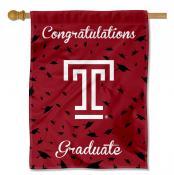 Temple Owls Congratulations Graduate Flag