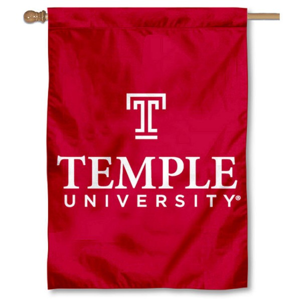 Temple Owls Double Sided Banner is a vertical house flag which measures 28x40 inches, is made of 2 ply 100% nylon, offers screen printed NCAA team insignias, and has a top pole sleeve to hang vertically. Our Temple Owls Double Sided Banner is officially licensed by the selected university and the NCAA.