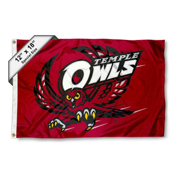 Temple University Nautical Flag measures 12x18 inches, is made of two-ply nylon, offers double stitched flyends for durability, has two metal grommets, and is viewable from both sides. Our Temple University Nautical Flag is officially licensed by the selected university and the NCAA and can be used as a motorcycle flag, golf cart flag, or ATV flag