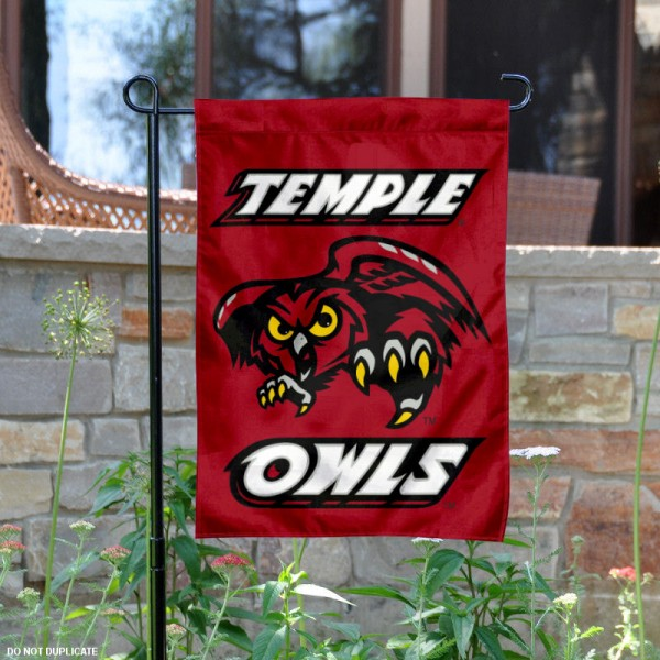 Temple University Owls Garden Flag is 13x18 inches in size, is made of 2-layer polyester, screen printed Temple University athletic logos and lettering. Available with Same Day Express Shipping, Our Temple University Owls Garden Flag is officially licensed and approved by Temple University and the NCAA.