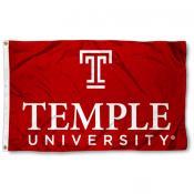 Temple University Wordmark Logo Flag