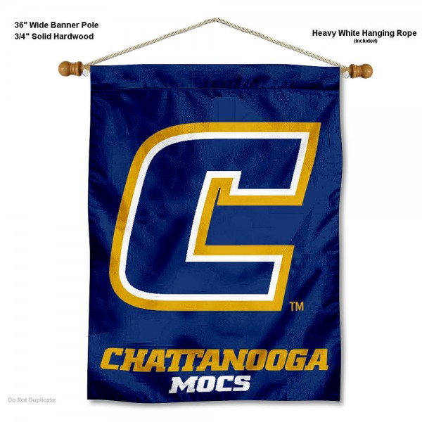 "Tennessee Chattanooga Mocs Wall Banner is constructed of polyester material, measures a large 30""x40"", offers screen printed athletic logos, and includes a sturdy 3/4"" diameter and 36"" wide banner pole and hanging cord. Our Tennessee Chattanooga Mocs Wall Banner is Officially Licensed by the selected college and NCAA."