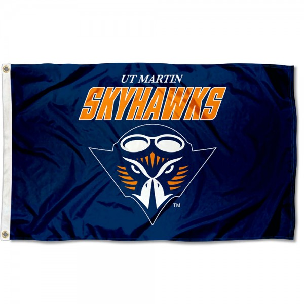 Tennessee Martin Skyhawks Flag measures 3x5 feet, is made of 100% polyester, offers quadruple stitched flyends, has two metal grommets, and offers screen printed NCAA team logos and insignias. Our Tennessee Martin Skyhawks Flag is officially licensed by the selected university and NCAA.