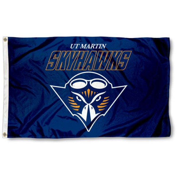 Tennessee Martin Skyhawks Flag is made of 100% nylon, offers quad stitched flyends, measures 3x5 feet, has two metal grommets, and is viewable from both side with the opposite side being a reverse image. Our Tennessee Martin Skyhawks Flag is officially licensed by the selected college and NCAA