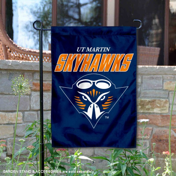 Tennessee Martin Skyhawks Garden Flag is 13x18 inches in size, is made of 2-layer polyester, screen printed university athletic logos and lettering, and is readable and viewable correctly on both sides. Available same day shipping, our Tennessee Martin Skyhawks Garden Flag is officially licensed and approved by the university and the NCAA.