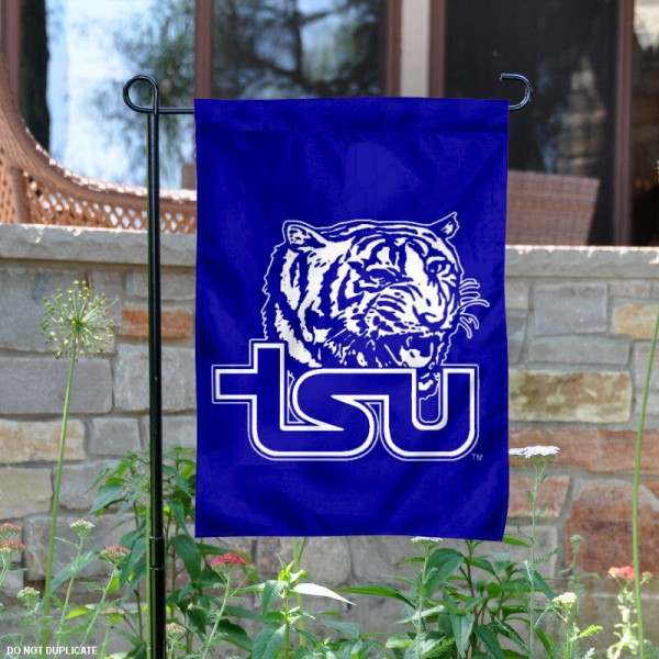 Tennessee State Tigers Logo Garden Flag is 13x18 inches in size, is made of 2-layer polyester, screen printed Tennessee State Tigers Bay athletic logos and lettering. Available with Same Day Express Shipping, Our Tennessee State Tigers Logo Garden Flag is officially licensed and approved by Tennessee State Tigers Bay and the NCAA.