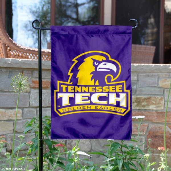 Tennessee Tech University Garden Flag is 13x18 inches in size, is made of 2-layer polyester, screen printed Tennessee Tech University athletic logos and lettering. Available with Same Day Express Shipping, Our Tennessee Tech University Garden Flag is officially licensed and approved by Tennessee Tech University and the NCAA.