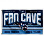 Tennessee Titans Fan Cave Flag Large Banner