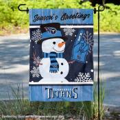 Tennessee Titans Holiday Winter Snow Double Sided Garden Flag