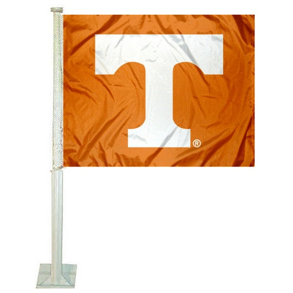 Tennessee Vols Car Window Flag measures 12x15 inches, is constructed of sturdy 2 ply polyester, and has screen printed school logos which are readable and viewable correctly on both sides. Tennessee Vols Car Window Flag is officially licensed by the NCAA and selected university.
