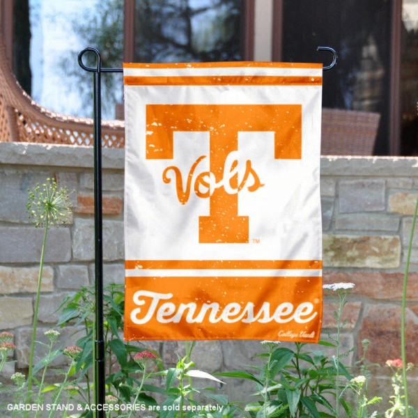 Tennessee Vols College Vault Logo Garden Flag is 12.5x18 inches in size, is made of 2-layer polyester, screen printed university athletic logos and lettering, and is readable and viewable correctly on both sides. Available same day shipping, our Tennessee Vols College Vault Logo Garden Flag is officially licensed and approved by the university and the NCAA.