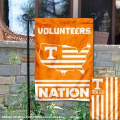 Tennessee Vols Garden Flag with USA Country Stars and Stripes