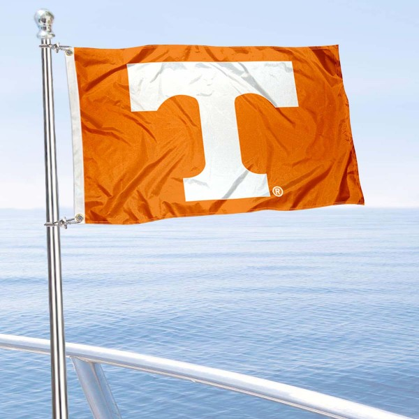 Tennessee Vols Golf Cart Flag is a small 12x18 inches, made of 2-ply polyester with quad stitched flyends, and is double-sided. Our Golf Cart Logo Flags are Officially Licensed and Approved by University of Tennessee and NCAA.