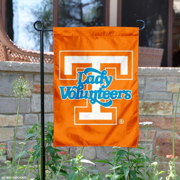 Tennessee Vols Lady Volunteers Garden Flag is 13x18 inches in size, is made of 2-layer polyester, screen printed university athletic logos and lettering. Available with Same Day Express Shipping, our Tennessee Vols Lady Volunteers Garden Flag is officially licensed and approved by the university and the NCAA.