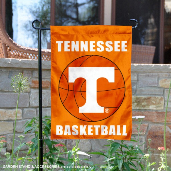 Tennessee Volunteers Basketball Garden Banner is 13x18 inches in size, is made of 2-layer polyester, screen printed athletic logos and lettering. Available with Same Day Express Shipping, Our Tennessee Volunteers Basketball Garden Banner is officially licensed and approved by the school and the NCAA.