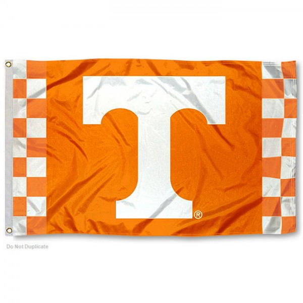 Tennessee Volunteers Checkerboard Stripes Flag measures 3x5 feet, is made of 100% polyester, offers quadruple stitched flyends, has two metal grommets, and offers screen printed NCAA team logos and insignias. Our Tennessee Volunteers Checkerboard Stripes Flag is officially licensed by the selected university and NCAA.