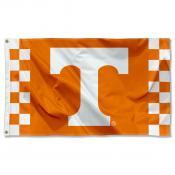 Tennessee Volunteers Checkerboard Stripes Flag