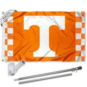 Tennessee Volunteers Checkered Flag Pole and Bracket Kit