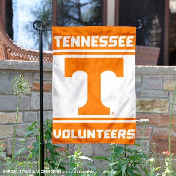 Tennessee Volunteers Garden Flag is 13x18 inches in size, is made of 2-layer polyester, screen printed logos and lettering. Available with Same Day Express Shipping, Our Tennessee Volunteers Garden Flag is officially licensed and approved by the NCAA.