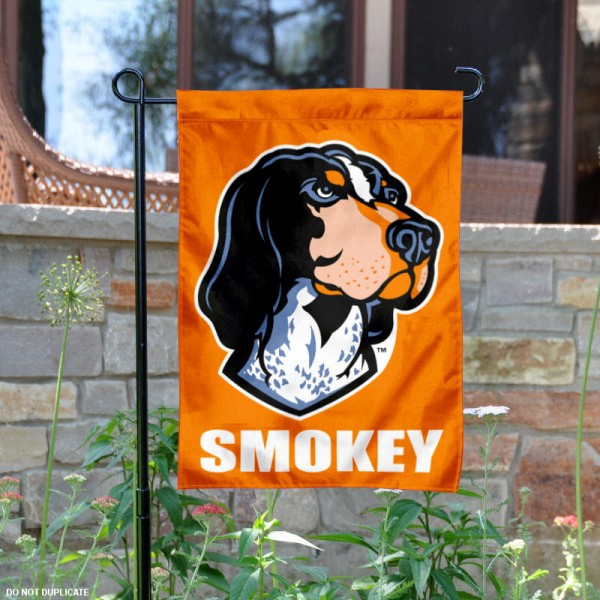 Tennessee Volunteers Smokey Garden Flag is 13x18 inches in size, is made of 2-layer polyester, screen printed university athletic logos and lettering. Available with Same Day Express Shipping, our Tennessee Volunteers Smokey Garden Flag is officially licensed and approved by the university and the NCAA.