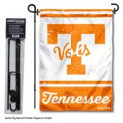 Tennessee Volunteers Vintage Retro Throwback Garden Flag and Flagpole