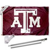 Texas A&M Aggies Beveled Flag Pole and Bracket Kit