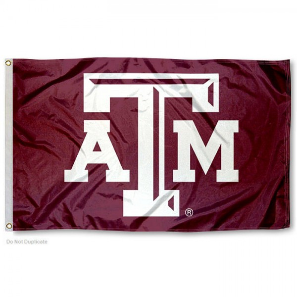 Texas A&M Aggies Beveled Logo Flag measures 3x5 feet, is made of 100% polyester, offers quadruple stitched flyends, has two metal grommets, and offers screen printed NCAA team logos and insignias. Our Texas A&M Aggies Beveled Logo Flag is officially licensed by the selected university and NCAA.