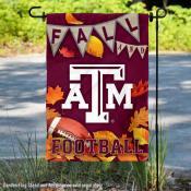 Texas A&M Aggies Fall Football Autumn Leaves Decorative Garden Flag