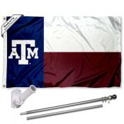 Texas A&M Aggies Flag Pole and Bracket Kit
