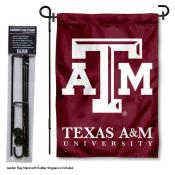 Texas A&M Aggies Garden Flag and Stand