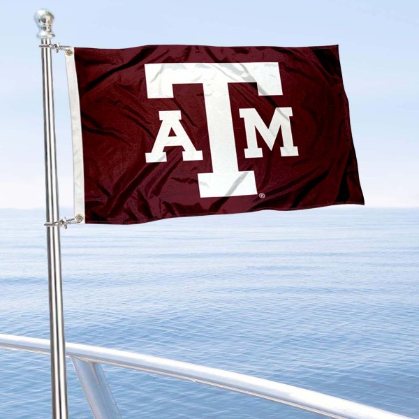 Texas A&M Aggies Golf Cart Flag is a small 12x18 inches, made of 2-ply polyester with quad stitched flyends, and is double-sided. Our Golf Cart Logo Flags are Officially Licensed and Approved by Texas A&M and NCAA.