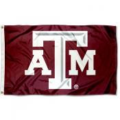 Texas A&M Aggies Gray Bevel Logo Flag
