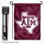 Texas A&M Aggies Lone Star Garden Flag and Pole Stand Mount