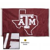 Texas A&M Aggies Nylon Embroidered Flag
