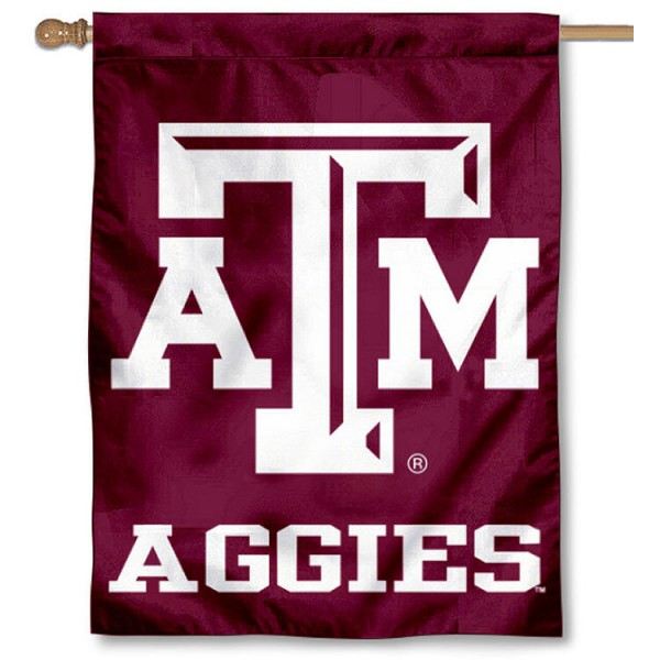 Texas A&M Aggies Outdoor Flag is a vertical house flag which measures 30x40 inches, is made of 2 ply 100% polyester, offers screen printed NCAA team insignias, and has a top pole sleeve to hang vertically. Our Texas A&M Aggies Outdoor Flag is officially licensed by the selected university and the NCAA