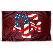 Texas A&M Aggies Patriotic Flag