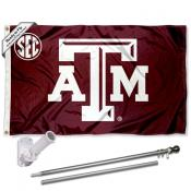 Texas A&M Aggies SEC Flag Pole and Bracket Kit